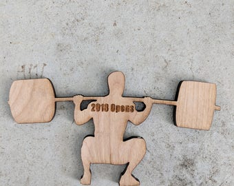 Fitness,Fitness magnet,Weightlifting,Weightlifting magnet,backsquat,backsquat magnet,wood magnet,magnet