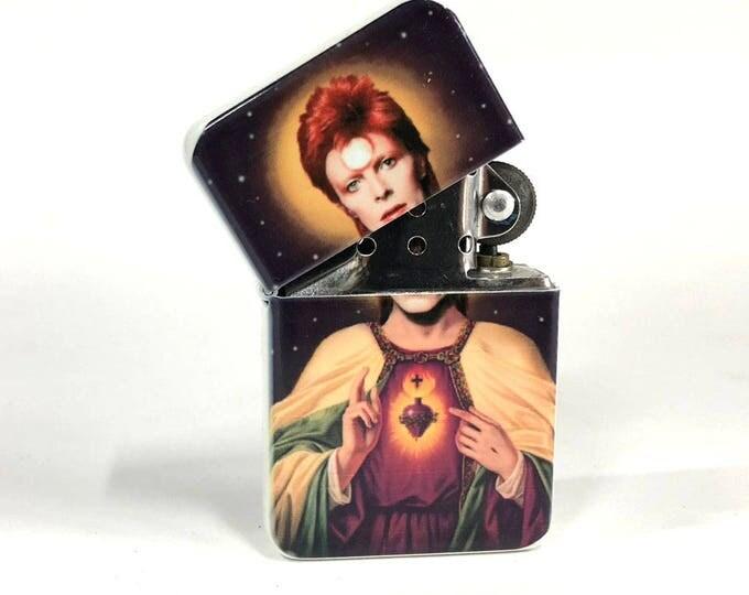 Lighter, Ziggy Stardust, Sacred heart, David Bowie, Sublimated Lighter, Retro lighter, Cigar, Flip Lighter, Gift for Him, Fathers Day