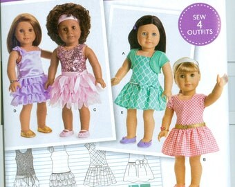 """Simplicity Pattern D0679 os American Girl Home Sewing Pattern 18"""" Doll Pattern"""