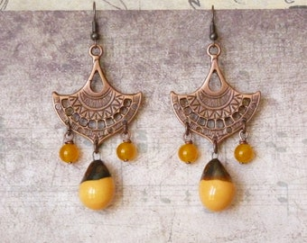 Boho Earrings, Bohemian Earrings, Southwestern Jewelry, Hippie Jewelry, Ethnic Earrings, Oriental Earrings, Handmade, Gift for Her