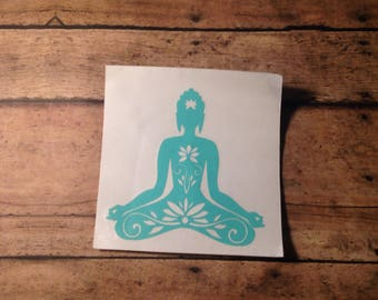 Car decal hippie, Buddhist decal, Boho decal, Car decals, Yoga decal, Namaste decal, Laptop stickers, Hippie decal, Hippie stickers
