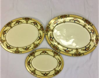 Set of 3 China Serving Platters