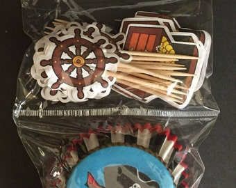 Pirate Cupcake Kit 48ct