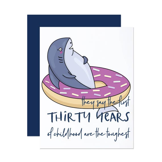Thirty Years of Childhood - Birthday Card