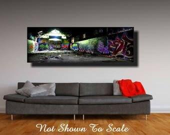 Panoramic Graffiti Artwork, Graffiti Art Canvas, Large Canvas Art, Large Wall Art Canvas, Graffiti Art, Canvas Art, Graffiti On Canvas