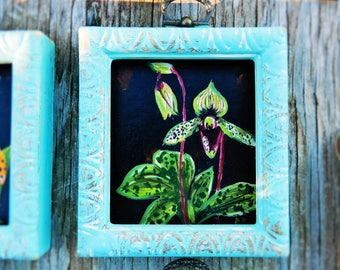 SALE! orchid original acrylic mini painting