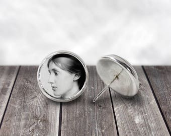 Virginia Woolf, Stud Earrings, Literary Gifts, Stud Earrings, Literary Jewelry, Bookish Gifts, Book Earrings, English Teacher Gift