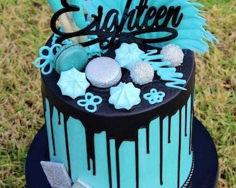 Eighteen Birthday Cake Topper