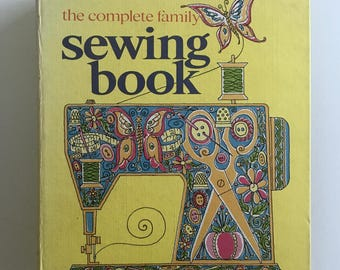Sewing Book, Vintage Looseleaf Binder, Complete Family Sewing, 500 Pages of Sewing Instruction and Illustrations, Curtin Publications, 1970s