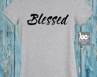Blessed Tee | Women's Fit Tee | Soft Cotton T-Shirt | Wife | Mom gift | Gift For Her | Wifey Shirt | T-Shirt | Womens Clothing | Tank Tops
