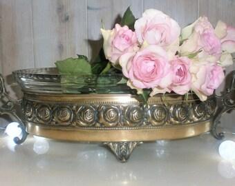 Antique French Gardener of Table Piece Art Nouveau//Antique Copper Planter//19th//Jardinière de table//Coupe centre de table fin 19ème