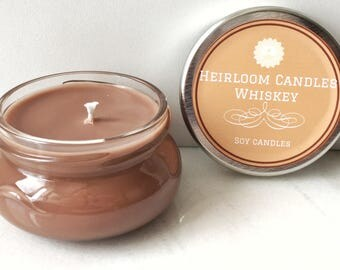 Whiskey Soy Candle - Gift Candle - Patchouli Candle - Liquor Candle - Bourbon Candle - Liquor Decor Gift - Whiskey Scented - Whisky Candle