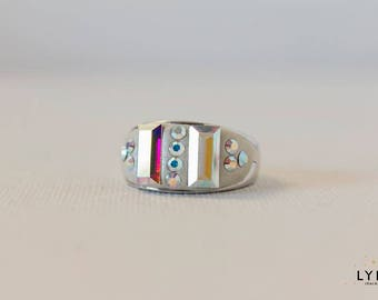 Handmade Ring with Swarovski Elements