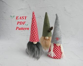 Gnome felt pattern  Scandinavian Gnome Pattern Gnome PDF sewing pattern Christmas Gnome  PDF download pattern  Nordic Tomte Nisse DIY