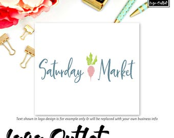 Premade Logo Design - Includes files for Web and Print + Watermarks! Perfect for Farmers Market, Coop, Farmhouse, Gardening + much more!