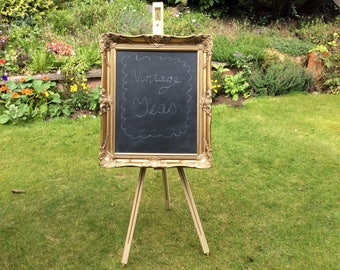 Large Vintage Style Chalkboard Wedding Hotel Cafe Tearoom Restaurant Events