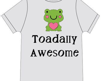 Toadally Awesome Baby Onesie