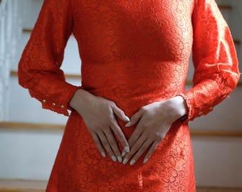 60s Lace Mod shift Dress