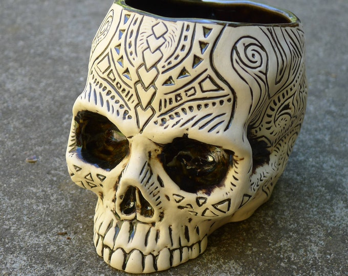 Shrunken Skull Tiki Mug - Super Limited Edition - Chrome