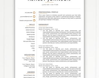 Resume Template, Modern Resume, Resumes, Free Resume Template, Cover Letter  + References  Resume Tempate