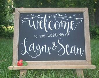 Wedding Sign, Wedding Chalkboard Sign, Welcome Wedding Chalkboard, Custom Chalkboard Sign, Chalkboard, Personalized Chalkboard Sign