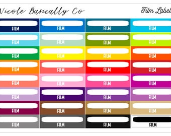 Rainbow Film Planner Stickers