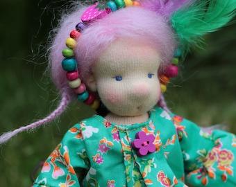 Dalia, tiny waldorf inspired doll