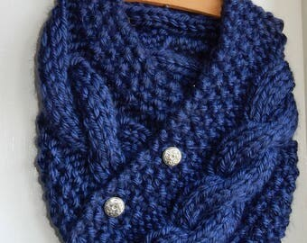 Cowl Knit Scarf
