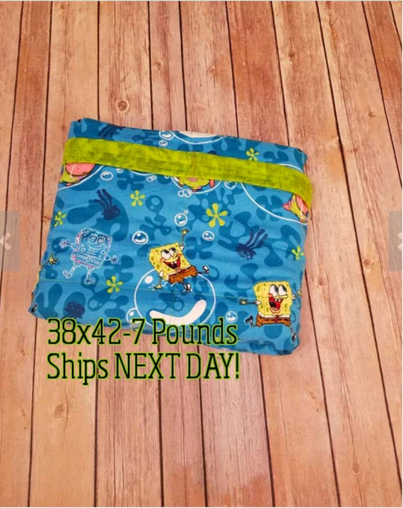 Cartoon, 7 Pound, WEIGHTED BLANKET, Ready To Ship, 7 pounds, 38x42 for Autism, Sensory, ADHD, Calming