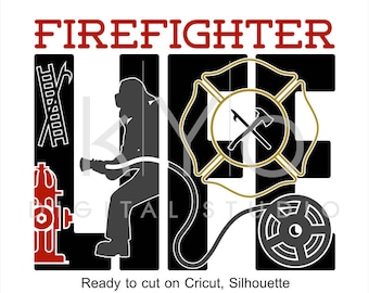 Firefighters Firemen Life SVG files for Cricut Silhouette Brother Scan N Cut