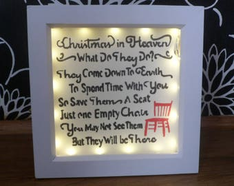christmas in heaven light box.beautiful way to remember loved ones