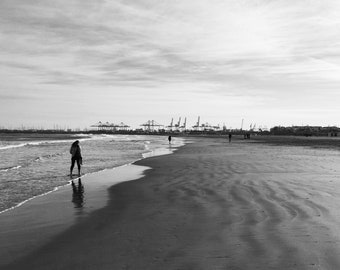 Beach Photography, Beach Print, Beach Decor, Beach Wall Art, Beach Art, Beach Photo, Beach House Decor, Large Beach Print, Valencia, Spain