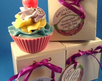 Funny Monkey (Toots) Soap Cupcake Gifts