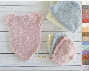 Newborn romper for girl | Newborn prop girl | Newborn girl romper | Knit girl romper |Pastel props |Infant girl romper | Newborn prop romper