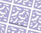 Flying Bats Nail Vinyl - Nail Stencil for Nail Art
