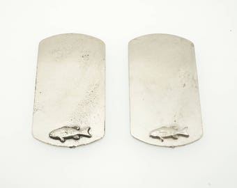 Pewter Fish Blank  - Fish Stamping Blank - Dogtag Blank - Pewter Dog Tag - Pewter Stamping Blank - Rustic Stamping Blank
