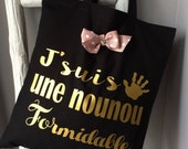 "The tote bag special for nannies ""wonderful"""