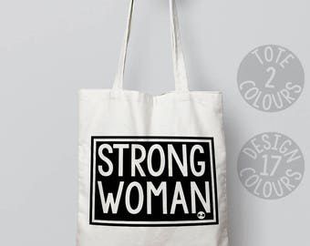 Strong Woman tote bag instagram christmas present, birthday gift, gift for women, activist gift, campaign, feminist, asylum seeker, humanity