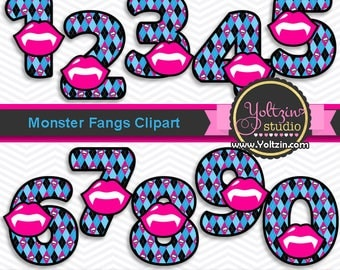 Monster high clipart numbers, monsters clipart pink blue age, my first halloween fangs vampire clipart digital clip art png images black