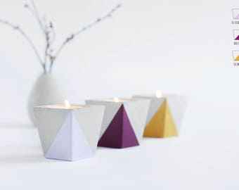 Tea light holder from Beton_PURPLE