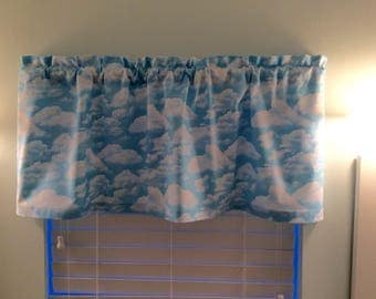 Sky Blue Curtains-Beach Valance-Beach Curtains-Lake Valance-Coastal Valance-Tropical Valance-Bedroom Curtains-Beach Decor