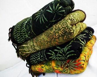 Four Yoga Blankets Bambu