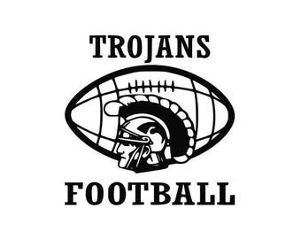 Trojans Football high school college SVG File Cutting, DXF, EPS design, cutting files for Silhouette Studio and Cricut Design space
