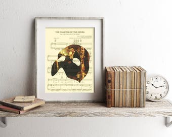 Phantom of the Opera Sheet Music Art Print