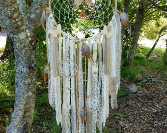 Tree of Life Dream Catcher/Citrine Quartz/Butterfly/Swarovski/Wall Hanging/Nursery Decor/