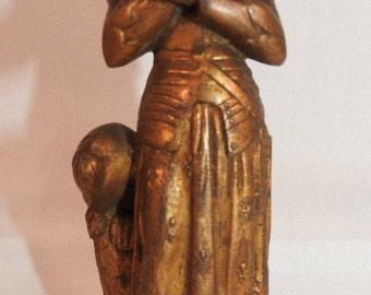 Joan of Arc Spelter Figure ,miniature