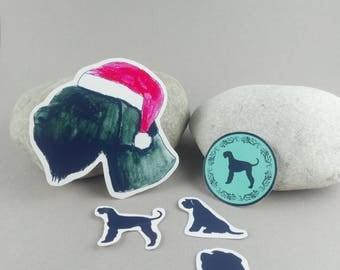 """Giant Schnauzer Christmas"" sticker-set"