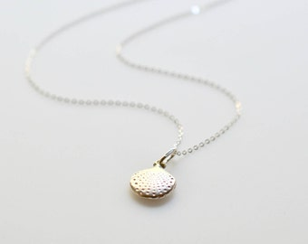 Sea Shell Silver Necklace, Sterling Silver Summer Necklace, Mermaid Necklace, Beach Necklace, Vacation Necklace, Nature Necklace