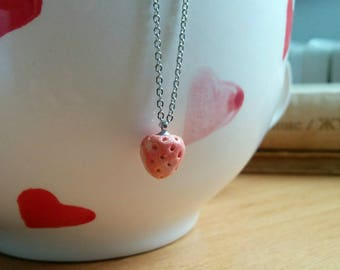 SALE-Strawberry. Necklace. Free shipping.