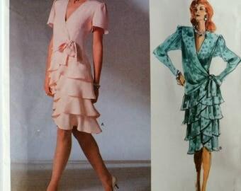 Uncut 1980s Vogue Vintage Sewing Pattern 1891, Size 14; Bellville Sassoon Misses' Dress